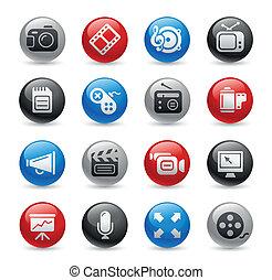 ikonen, proffs, multimedia, /, gel