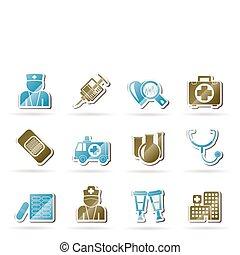 ikonen, sjukvård, medicin