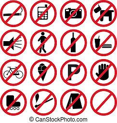 ikonok, állhatatos, tiltott