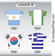 ikonok, b betű, csoport, országok