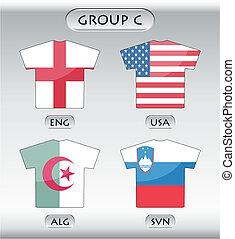 ikonok, csoport, átmérő, országok