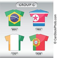 ikonok, csoport, g betű, országok