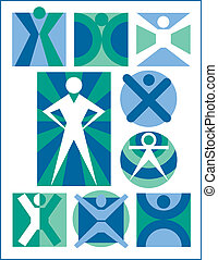 ikonok, emberek, gyűjtés, 6