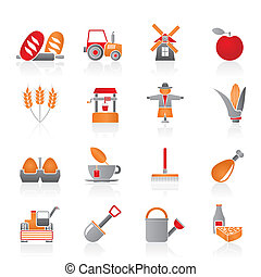 ikonok, gazdálkodás, mezőgazdaság