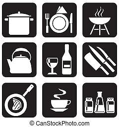 ikony, naczynia kuchenne