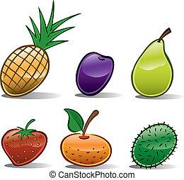 ikony, owoc, podstawowy