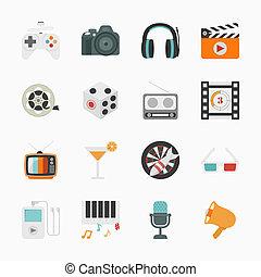 ikony, rozrywka