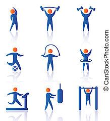 ikony, sala gimnastyczna