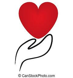 ikony, siła robocza, dzierżawa, serce