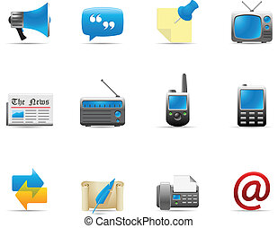 ikony, sieć, komunikacja, 2, -