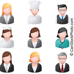 ikony sieći, -, profesjonalny, ludzie