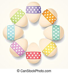 ikra, húsvét, fehér, elszigetelt