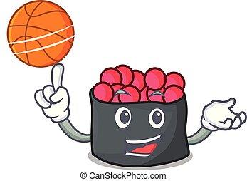 ikura, estilo, basquetebol, personagem, caricatura