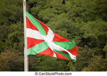ikurri�a-, vask, pays, drapeau