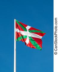 ikurrina., baske, land, flag., spain.