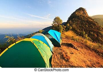 il, alto, montagna, campeggio
