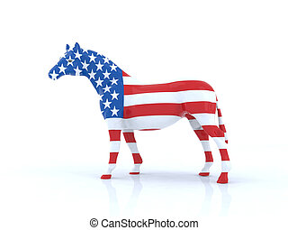 il, americano, cavallo