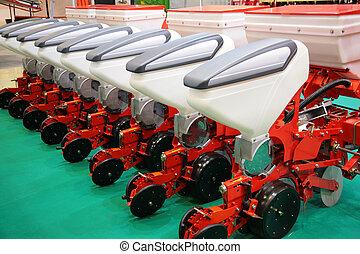 il, apparecchiatura agricola, per, fertilizzante, di, campi