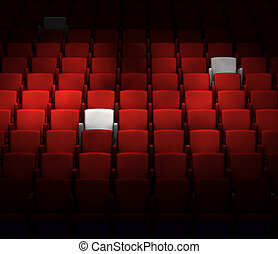 il, auditorio, con, riservato, posti