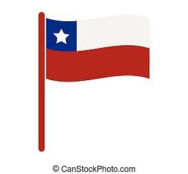 il, bandiera, di, cile