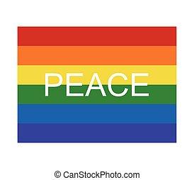 il, bandiera, di, pace