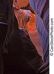 il, bellezza, di, canyon antilope, in, pagina, arizona