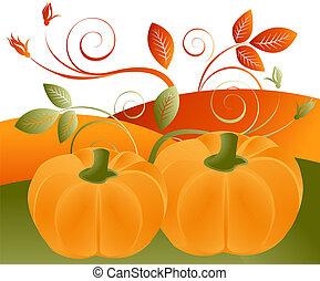il, boîte, temps, image, usage, vous, ou, saisons, illustration, concept, thanksgiving, vente