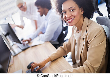 il, compagnie, programmeurs, coopérer, développer, apps