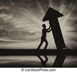il, concetto, di, difficoltà, e, problemi, in, affari