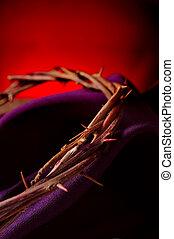 il, corona spine, di, gesù cristo