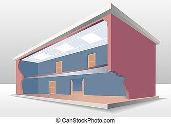 il, costruzione, sezione trasversale