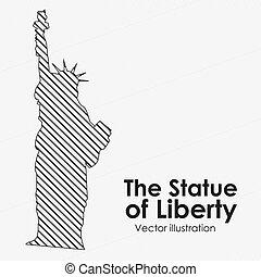 il, estatue, di, libertà