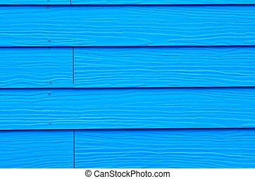il, fondo, di, nuovo, blu, dipinto, legno
