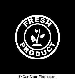 il, fresco, prodotto, icon., eco, e, bio, ecologia, simbolo., appartamento