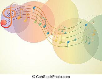 il, g-clef, e, il, note musicali
