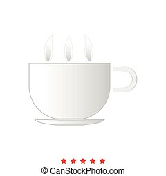 il, icône, chaud, tasse, café, ou, thé