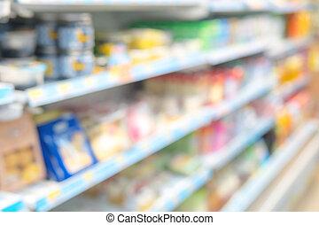 il, immagine, è, sfocato, e, beni, in, il, convenienza, store.