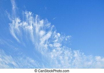 il, luce, nubi, in, il, cielo blu