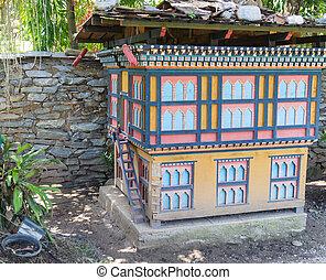 il, modello, di, bhutan, costruzione