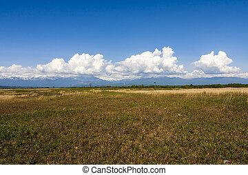 il, montagne, di, abkhazia