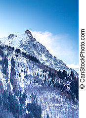 il, mountain view, da, il, stazione, di, aiguille du midi, in, chamonix