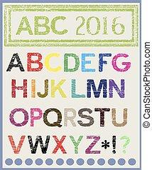 il, multi-colored, alfabeto, quale, volontà, lighten, mood.