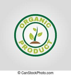il, organico, prodotto, icon., eco, e, bio, ecologia, simbolo., appartamento