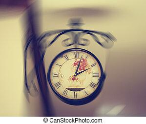 il, orologio, su, parete