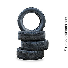 il, pila, di, quattro, inverno, nuovo, pneumatici