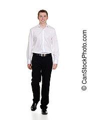 il portare, casuale, ragazzo, abbigliamento, adolescente