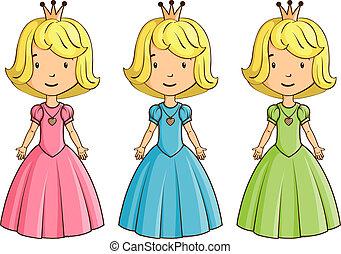 il portare, poco, costume, ragazza, principessa