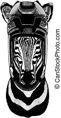 il portare, t-shirt, cavallo, distintivo, immagine, emblema, tatuaggio, mano, leone, hockey, patch., disegnato, zebra, helmet., logotipo