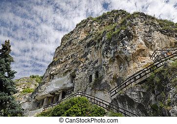 il, roccia, monastero, st, dimitrii, di, basarbovo