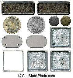 il, set, di, differente, tipi, di, metallo, piastre